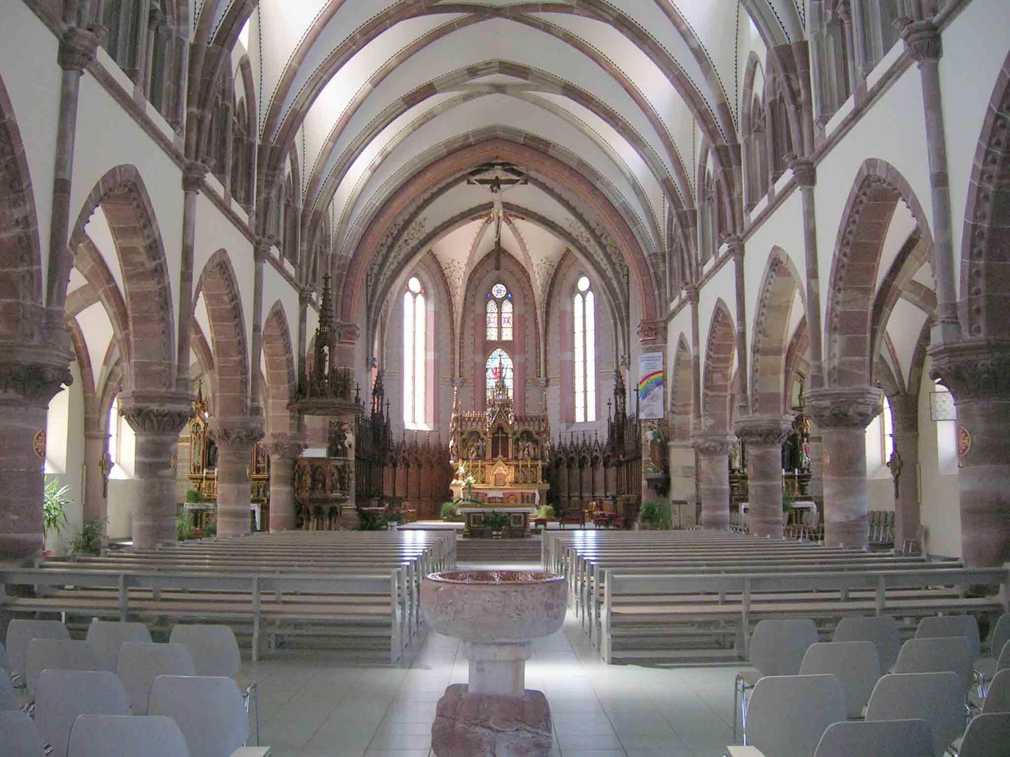 Eglise Saint-Martin, Pfaffenheim, Canton de Rouffach, Haut-Rhin, Alsace