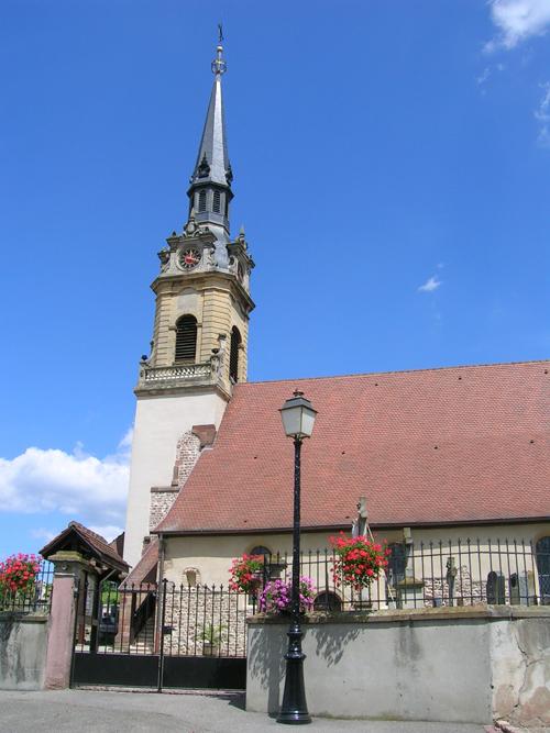 Eglise Sainte-Colombe, Hattstatt, Canton de Rouffach, Haut-Rhin, Alsace