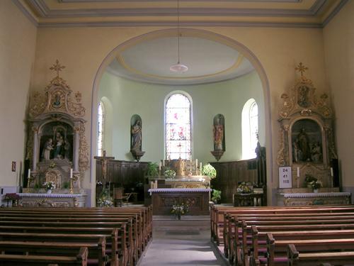 Eglise Saint-Etienne, Osenbach, Canton de Rouffach, Haut-Rhin, Alsace