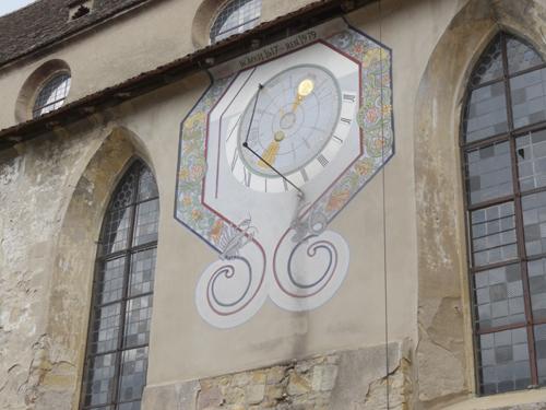 Cadran solaire des Récollets, Pays de Rouffach, Vignobles et Châteaux, Haut-Rhin, Alsace