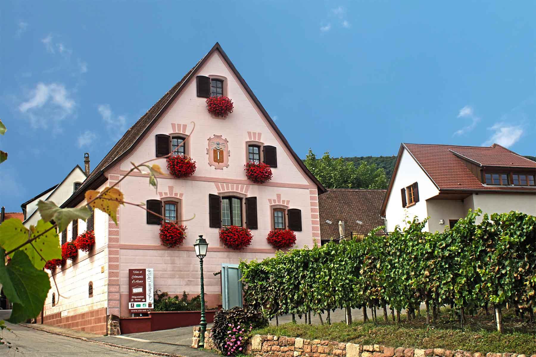Vins François Weck et Fils, Gueberschwihr, Pays de Rouffach, Vignobles et Châteaux, Haut-Rhin, Alsace