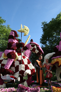 Flower decked procession  - August 11th