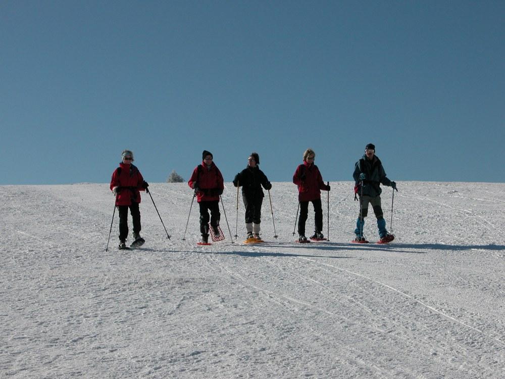 Circuit d'initiation aux raquettes à neige au Markstein