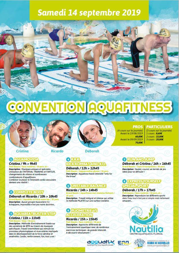 Convention aquafitness Nautilia