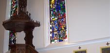 Vitraux de Le Chevallier Jacques de l'Eglise de Schnersheim