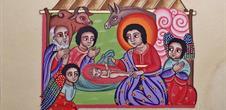 Exposition de Noël et les images enluminées d'Aline Falco