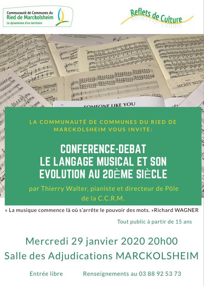 Conférence ' Le langage musical et son évolution au 20ème voir 21ème siècle'