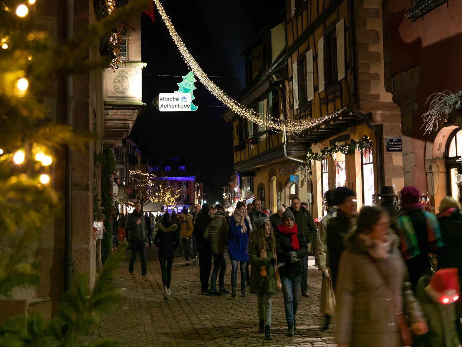 Authentic Christmas market in Kaysersberg