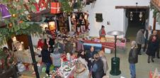 Christmas market in a vineyard