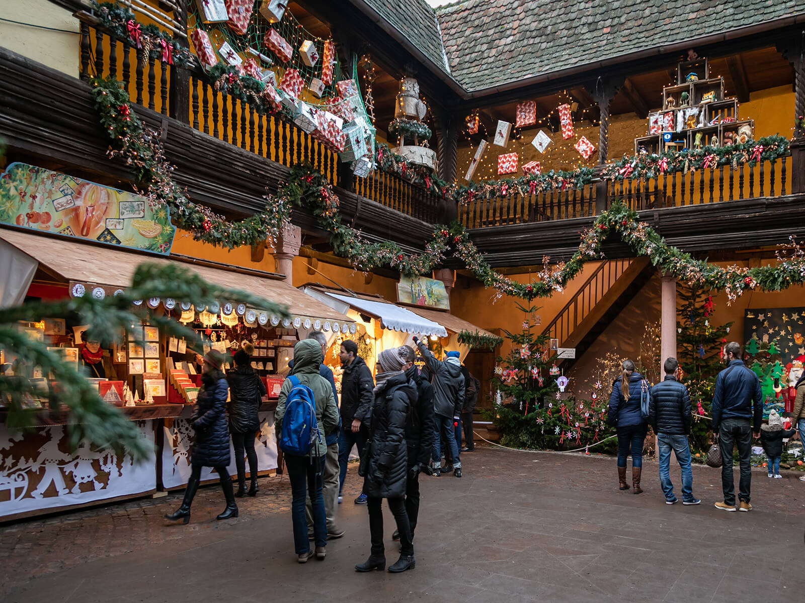 Authentic Christmas market in Kaysersberg