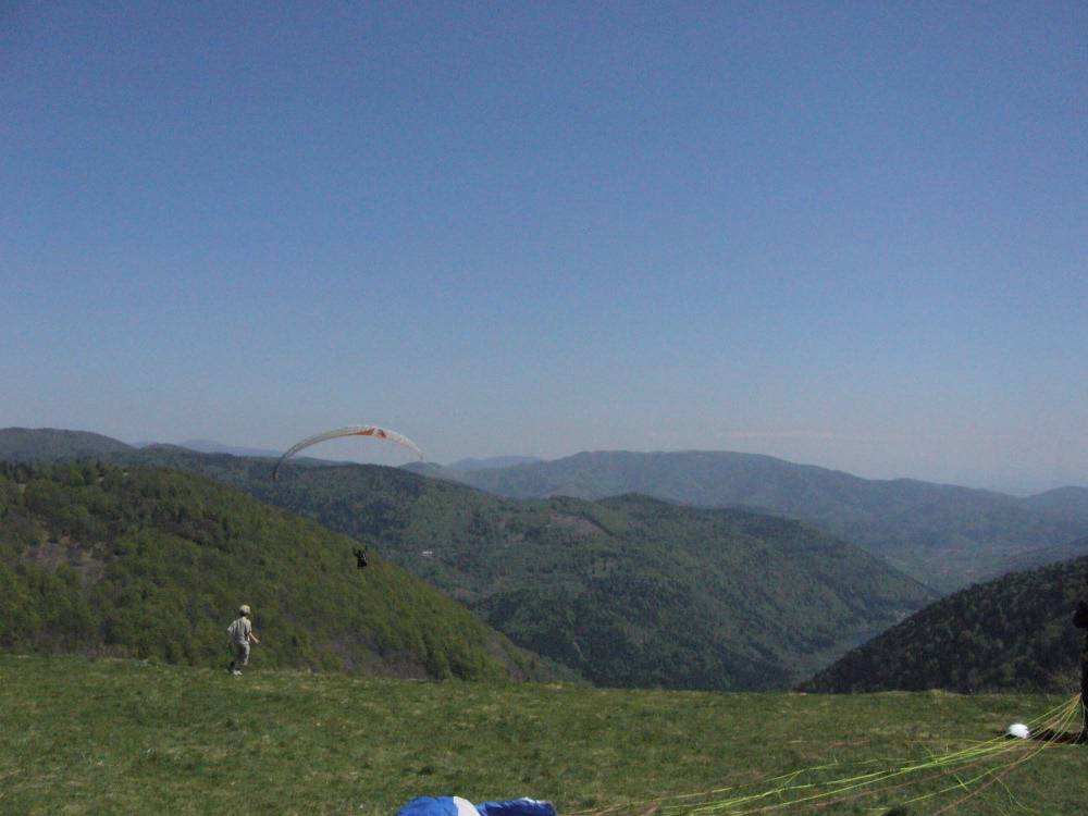 Make of the paragliding with Pent-Air