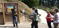 Guided tour in the vineyard trail