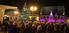 Christmas carols under the christmas tree