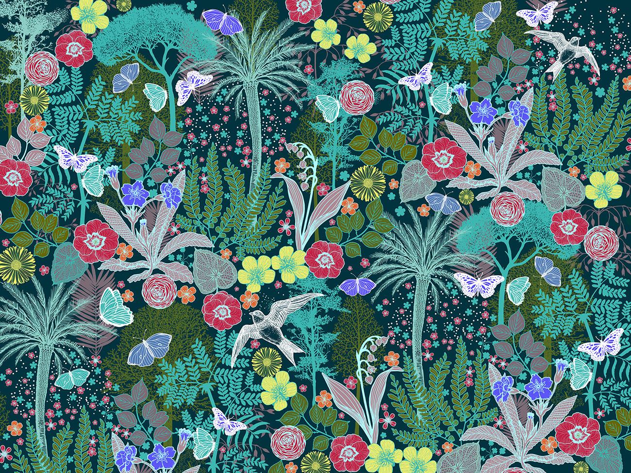 Exposition: Le papier peint au fil des saisons