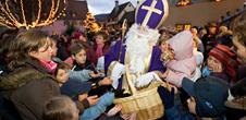 Balade aux flambeaux avec le Saint-Nicolas et ses amis