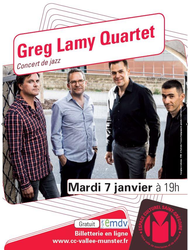 Concert de Jazz : Greg Lamy Quartet