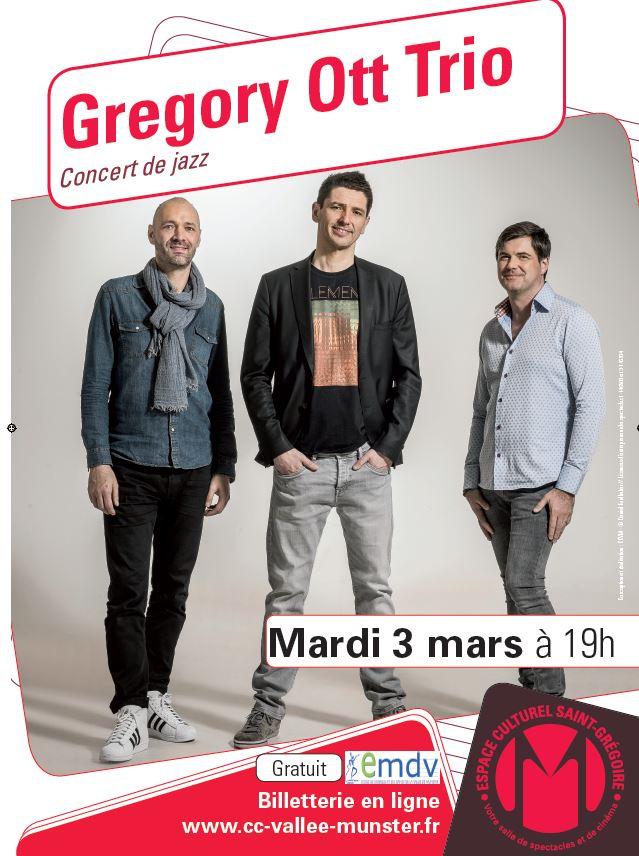 Concert de Jazz : Gregory Ott Trio - Munster