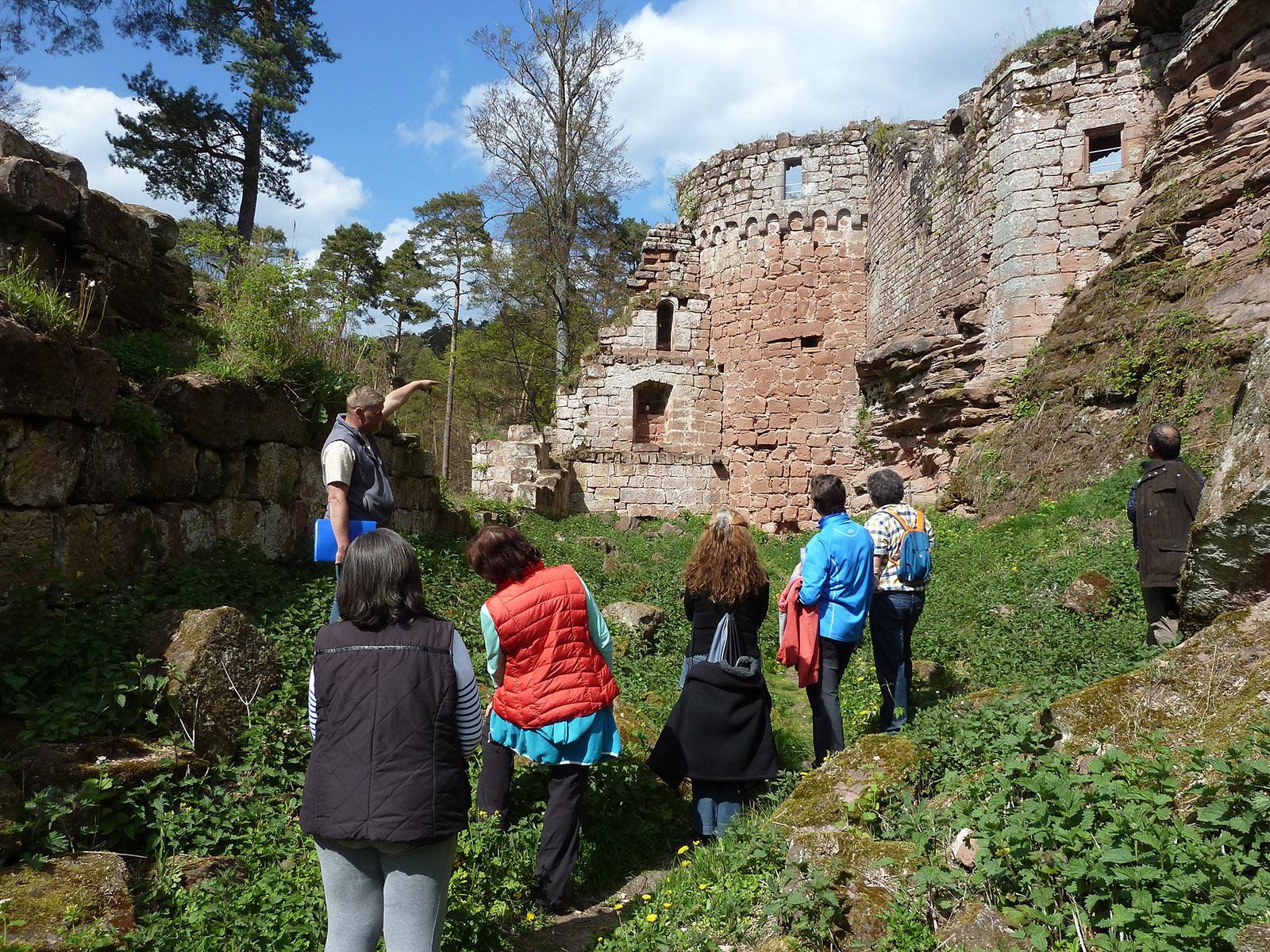 Visit of the Schoeneck castel