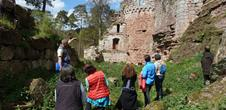 Visit of the Schoeneck castel