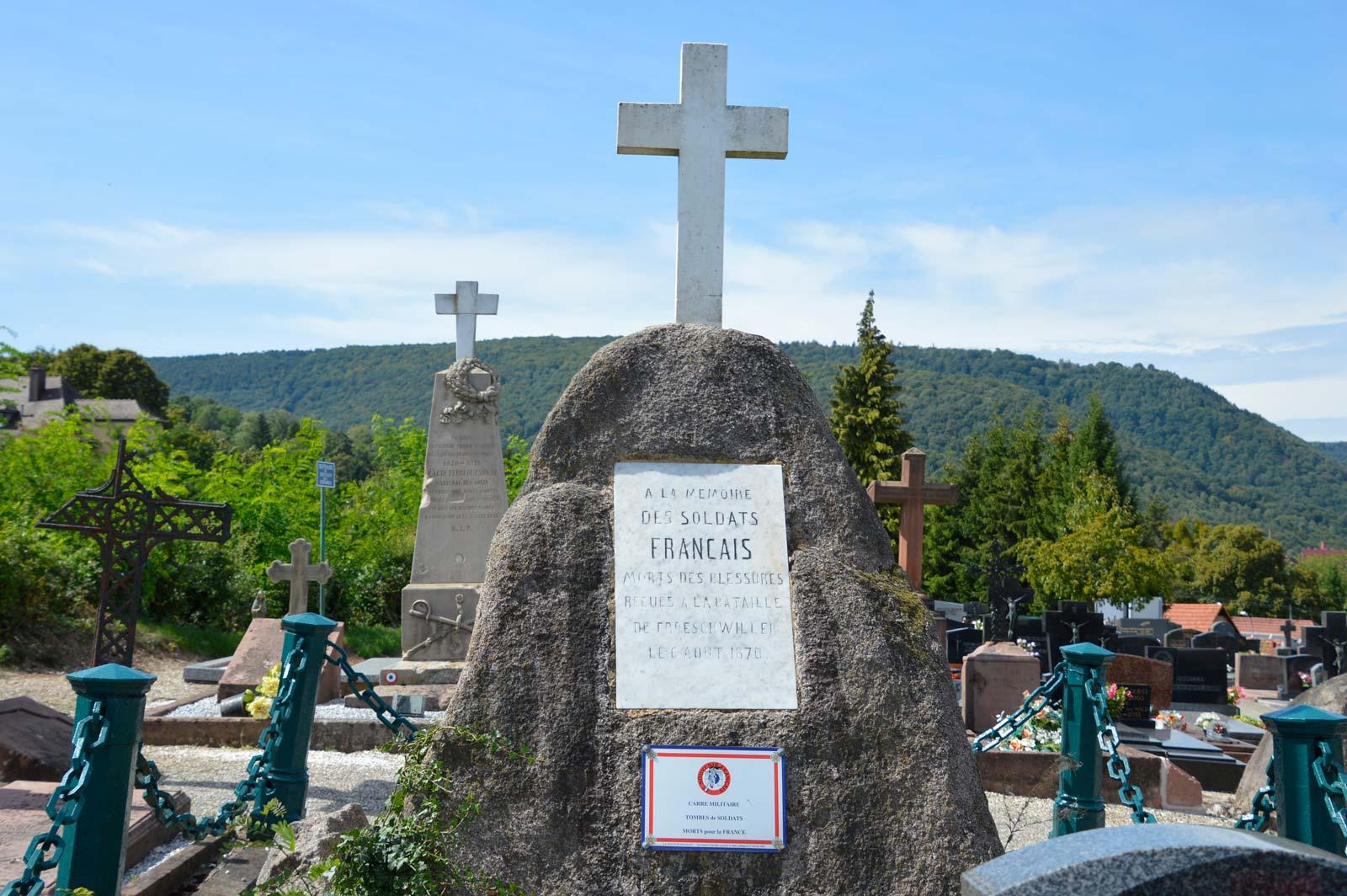 Tombes des premières victimes de la guerre de 1870
