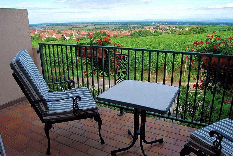Balcon Appartement 100 m2 et vue sur le vignoble