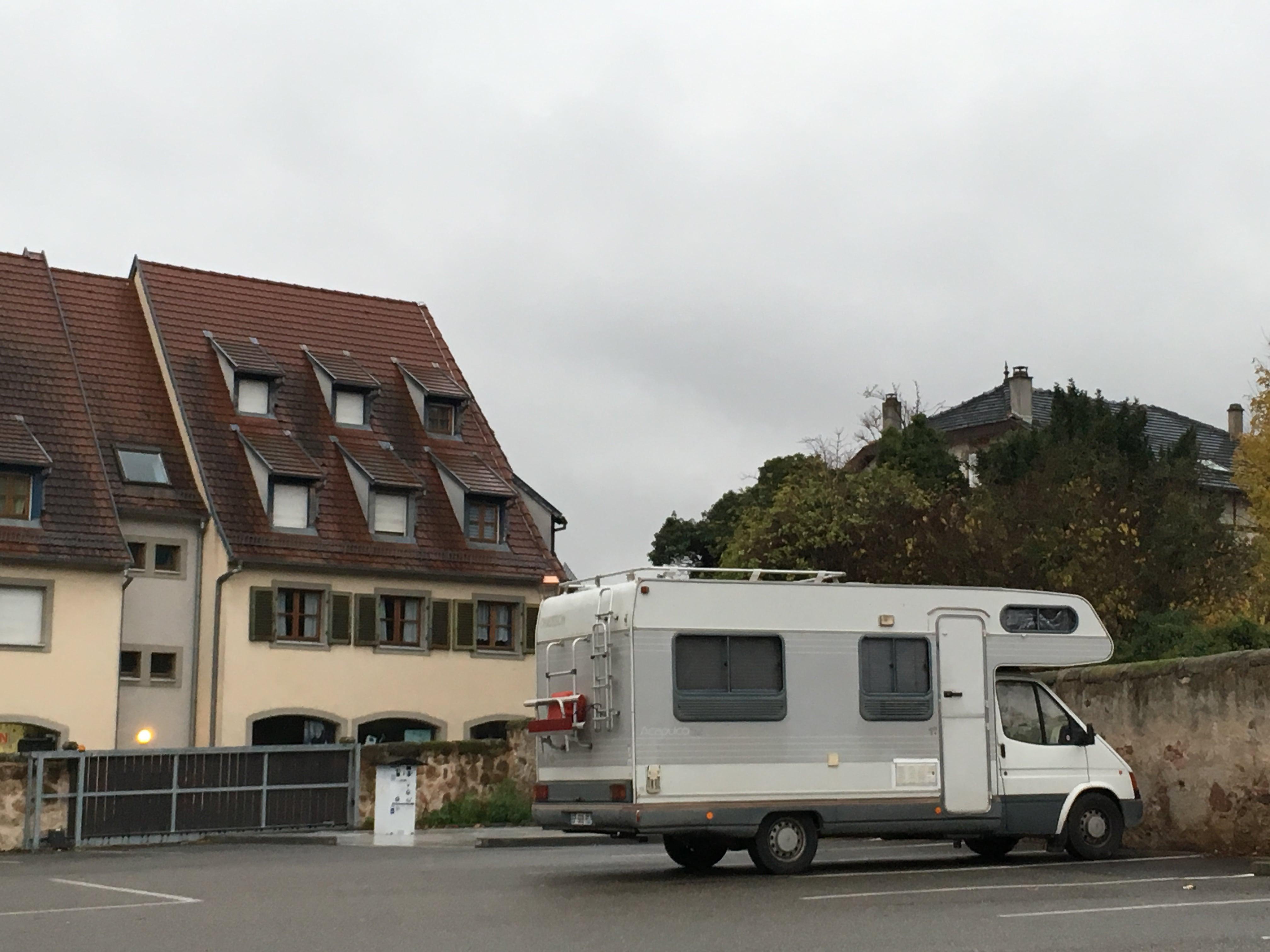 Aire d'accueil pour camping-car