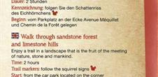 Sentier d'interprétation 'Promenade entre forêt gréseuse et coteaux calcaires
