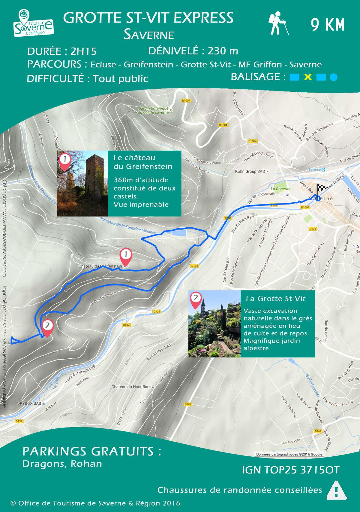 Fiche randonnée Grotte Saint-Vit Express