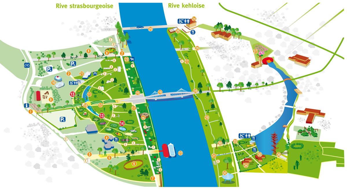 Le jardin des deux rives strasbourg for Auberge de jeunesse jardin des deux rives