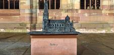 Bronze 3D model of the cathedral of Notre-Dame de Strasbourg
