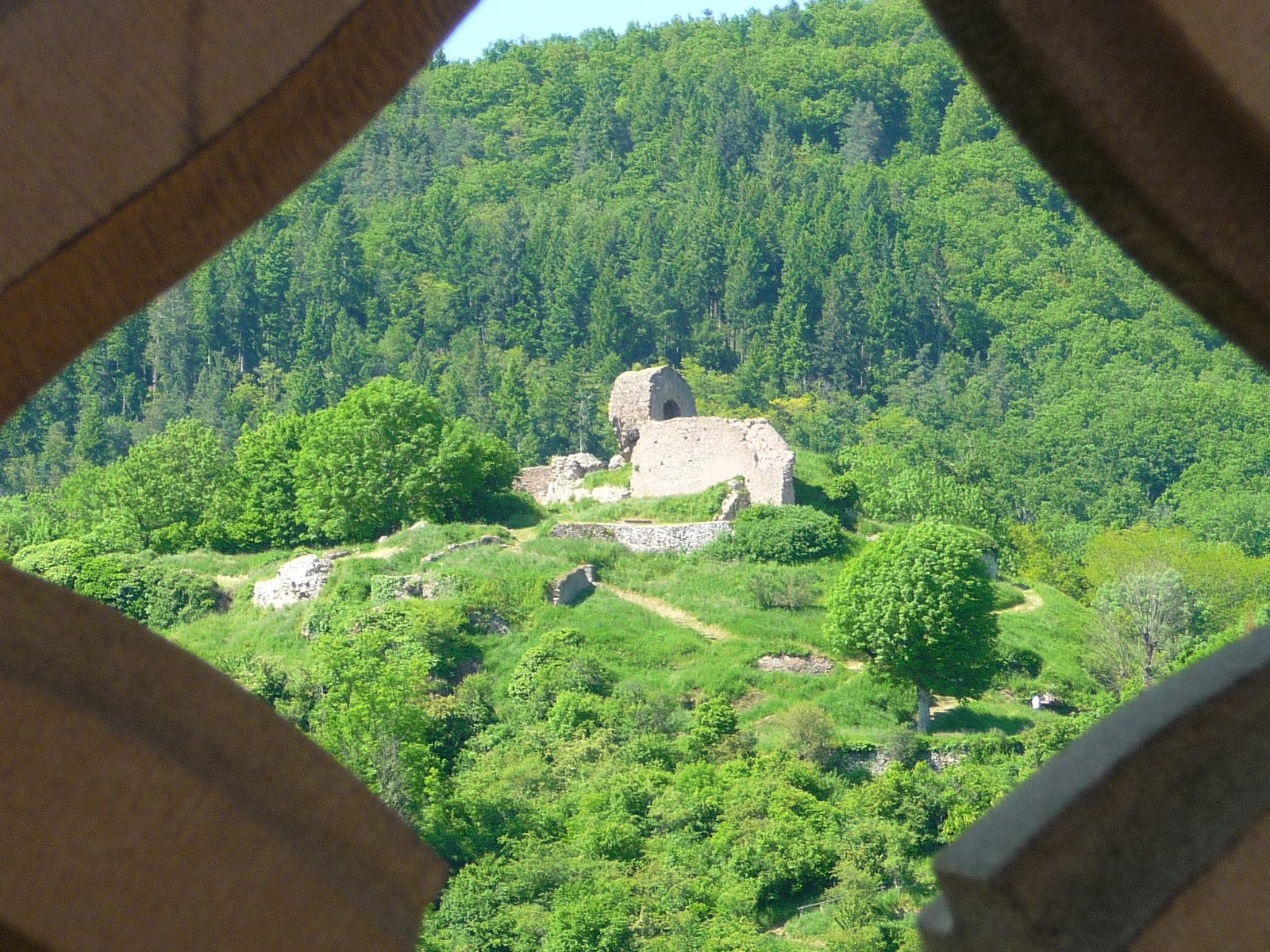 The ruins of the Engelbourg's castle