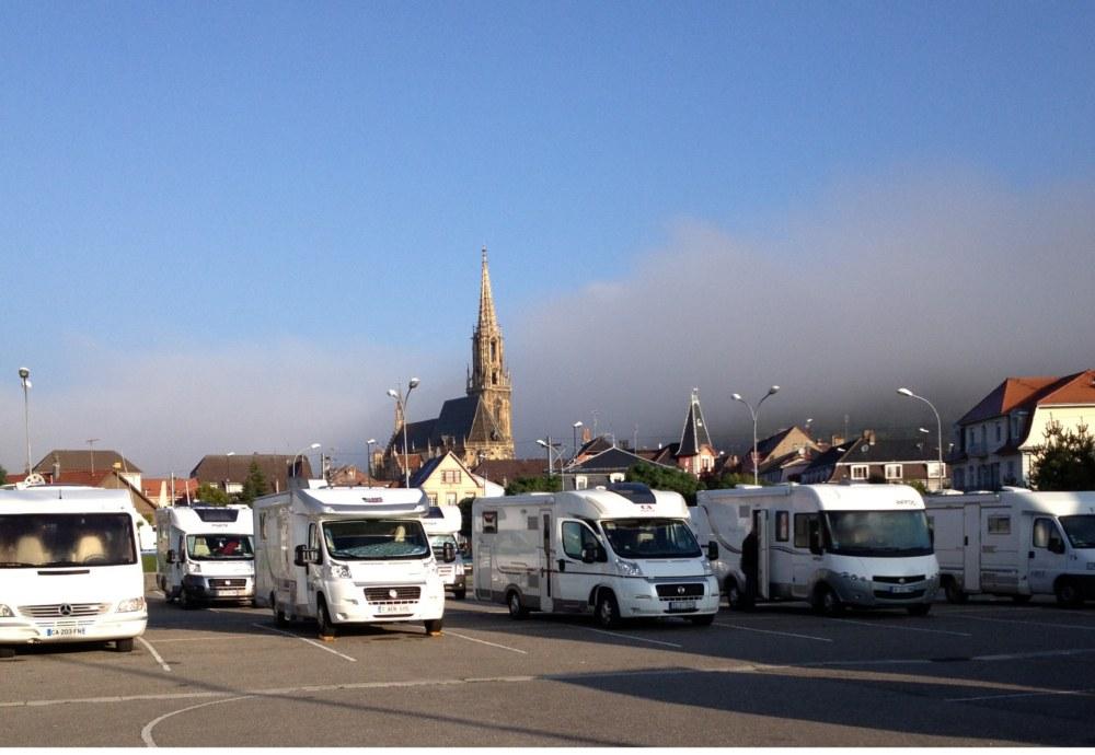 Aire de service pour camping car parking du centre thann - Office de tourisme de cernay ...