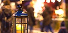 Gourmand walk with lanterns