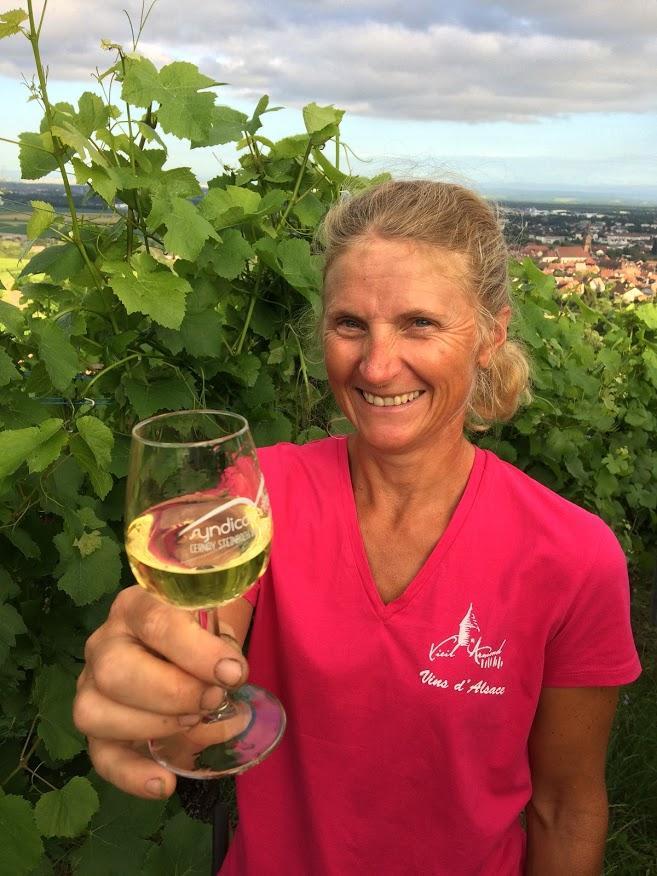 Visite viticole : verre à pied